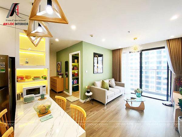 thiết kế thi công nội thất chung cư 60m2