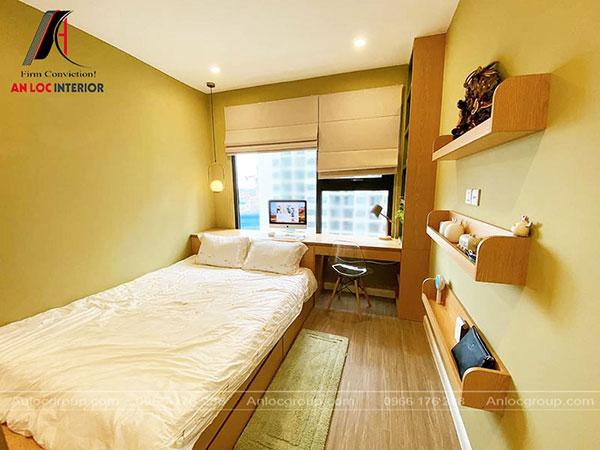 thiết kế căn hộ 60m2 - khu vực phòng ngủ