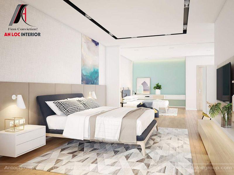 Phòng ngủ theo phong cách tối giản với các vật dụng cần thiết cho gia chủ lúc nghỉ ngơi
