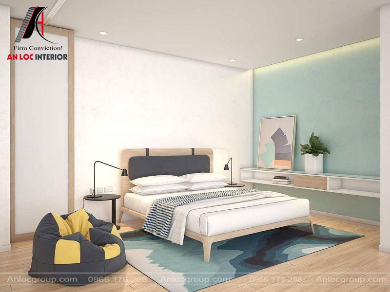 Một góc phòng ngủ nhỏ với các vật dụng đơn giản nhưng mang đến tổng thể hài hòa