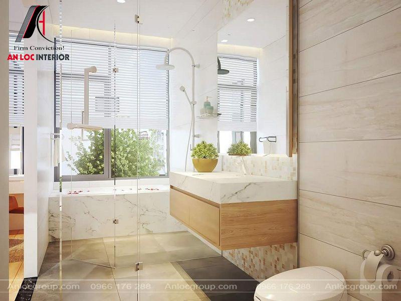 Nội thất phòng tắm hiện đại cùng cách bố trí ấn tượng mang đến vẻ đẹp tự do, phóng khoáng