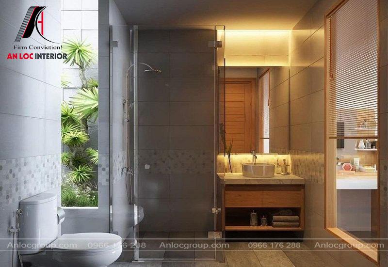 Tiện nghi phòng tắm đầy đủ, hiện đại tạo cảm giác thư thái, dễ chịu