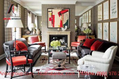Phòng khách Maverick hiện lên với nét đẹp ấn tượng, mới lạ