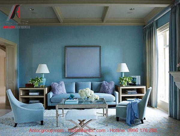 Lựa chọn xanh bạc hà để cân bằng màu sắc đồng thời làm dịu lại cảm giác nóng bức, ngột ngạt