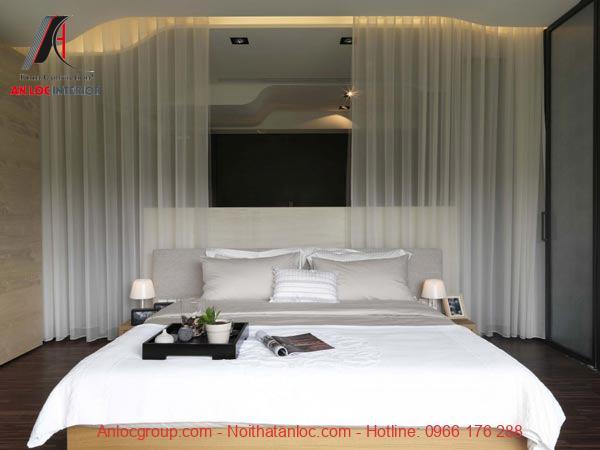 Phòng ngủ tinh tế, sử dụng gam màu sắc hiện đại