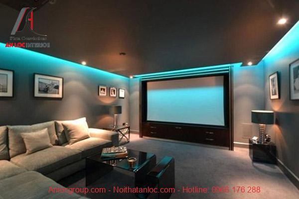 Hiệu ứng màu sắc kết hợp với nội thất hiện đại