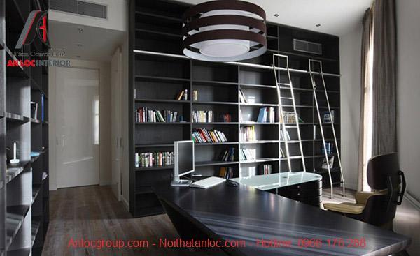 Phòng làm việc phong cách Hitech với sự sang trọng, tiện nghi trong đồ nội thất
