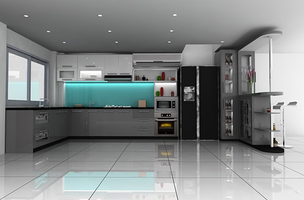 Mau sắc sử dụng đơn điệu những mang hiệu ứng đặc biệt với sàn, trần, tường