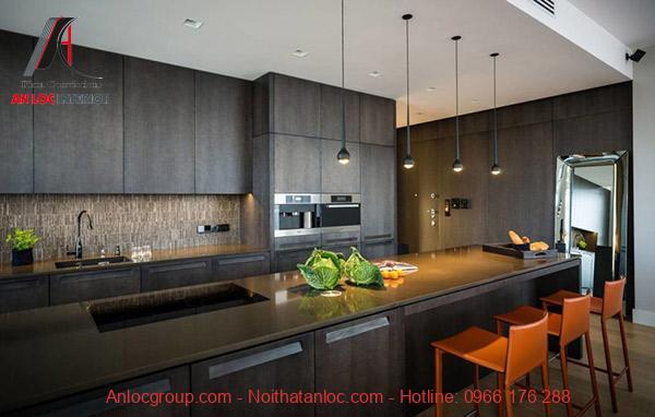 Những mặt phẳng, đường nét khỏe khoắn tôn lên vẻ đẹp không gian nội thất