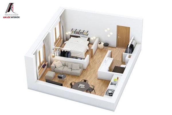 Tham khảo mẫu thiết kế chung cư 30m2