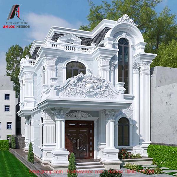 Biệt thự 2 tầng kiến trúc theo phong cách cổ điển