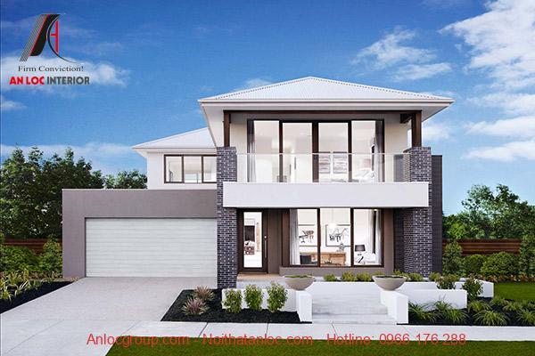 Phong cách kiến trúc hiện đại được thể hiện qua từng chi tiết, đường nét