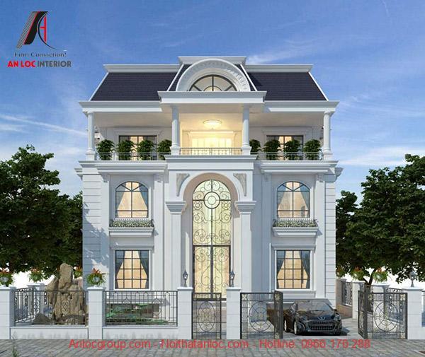Kiến trúc tân cổ điển được gia chủ phối hợp nhịp nhàng