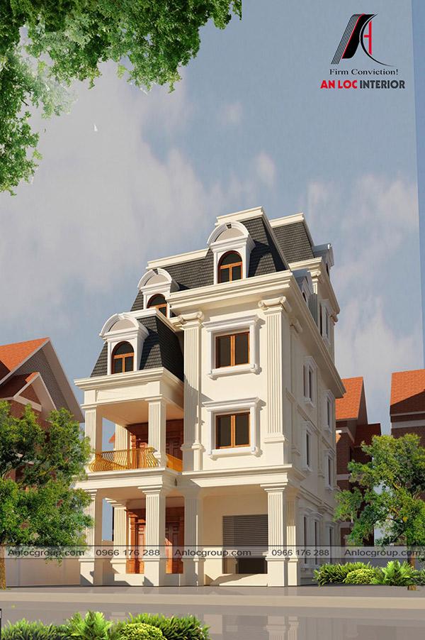 Thiết kế biệt thự tân cổ điển 3 tầng có vị trí vững chắc trong lòng khách hàng