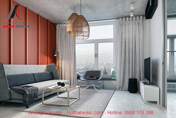 Chung cư 1 phòng ngủ Hà Nội được sắp xếp nội thất đơn giản nhưng đầy đủ tiện ích