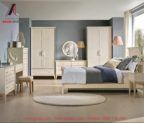 Thiếtkế nội thất căn hộ 2 phòng ngủ gồm 1 phòng ngủ master và 1 phòng nhỏ
