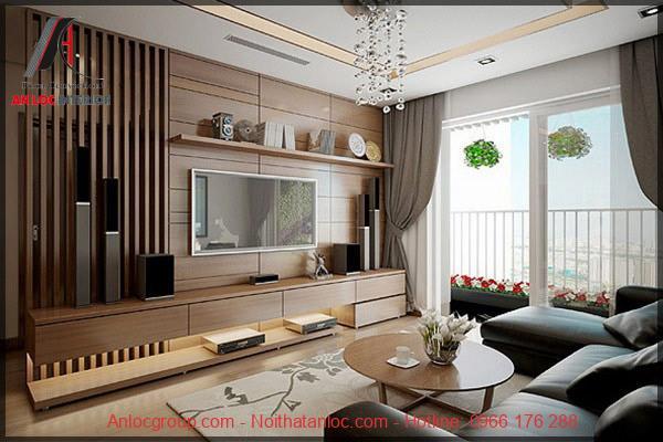 Thiết kế nội thất phòng khách đơng ỉan nhưng đảm bảo đủ tiện ích. Khung cửa lớn mang đến không gian thoáng đãng, gần gũi với thiên nhiên
