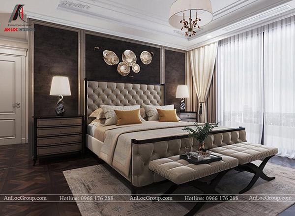 Phòng ngủ thoải mái, dễ chịu với gam màu trung tính tr