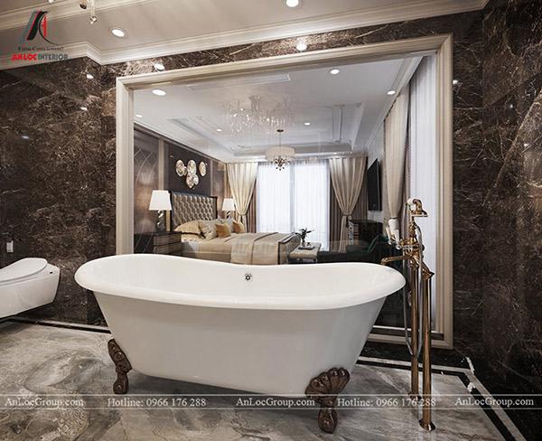 Phòng tắm ghi đậm dấu ấn phong cách thiết kế tân cổ điển