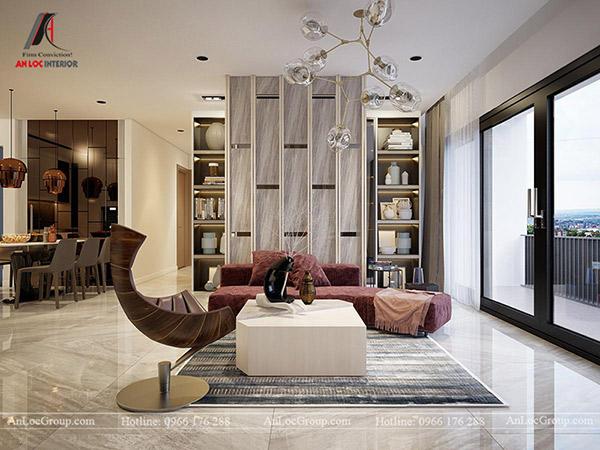 Phòng khách được tân dụng tối đa ánh sáng tự nhiên