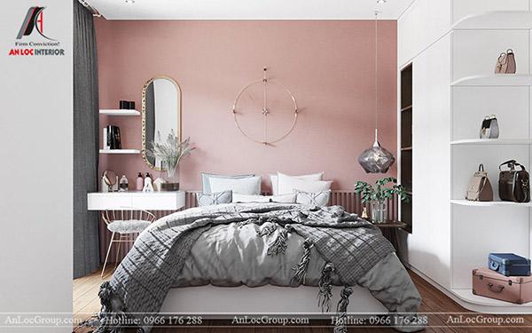 Màu pastel nhẹ nhàng mang đến không gian nghỉ ngơi thoải mái, dễ chịu