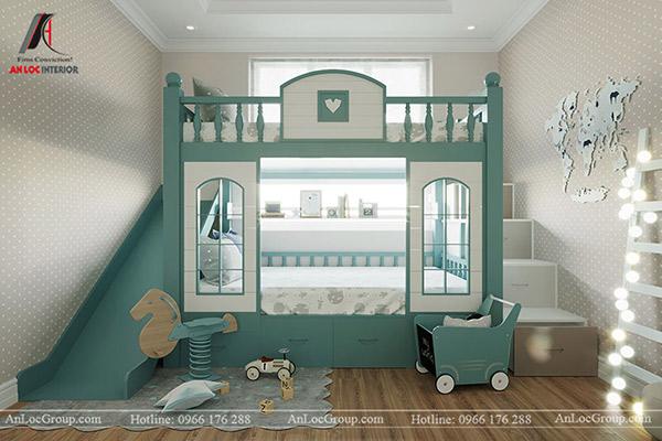 Giường tầng là lựa chọn hoàn hảo để tiết kiệm diện tích