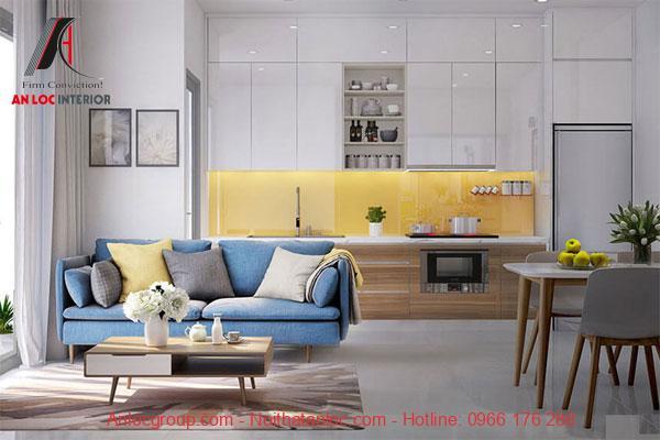 Mẫu thiết kế nội thất chung cư 60m2 đẹp