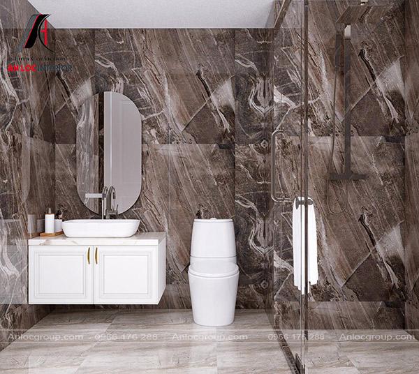 Thiết kế phòng tắm chung cư 100m2 đầy đủ tiện nghi, đáp ứng nhu cầu sinh hoạt