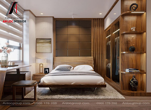 Màu gỗ chủ đạo tạo nên vẻ đẹp khỏe khoắn mà không kém phàn hiện đại