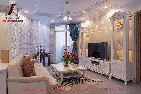 Hệ thống đèn được bố trí hài hòa vừa thắp sáng căn phòng vừa tạo yếu tố thẩm mỹ