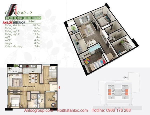 Bản vẽ nội thất căn hộ 100m2 một cách chi tiết, cụ thể nhất