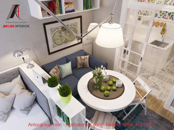 Thiết kế nội thất căn hộ chung cư mini 20m2 đẹp