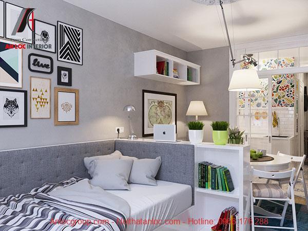 thiết kế căn hộ mini 20m2