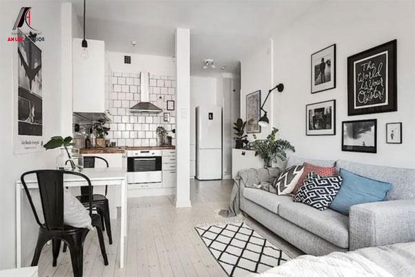 Thiết kế chung cư 30m2 tạo cảm giác tiện nghi, thoáng đãng