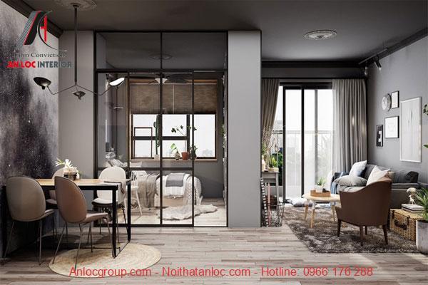 Trang trí nhà chung cư 60m2 đơn giản, nhẹ nhàng