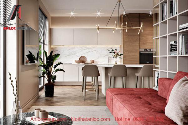 Thiết kế nội thất nhà chung cư đẹp 60m2