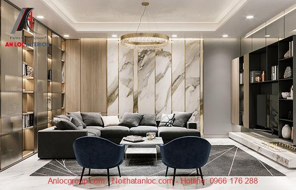 Thiết kế nội thất căn hộ 90m2 sang trọng, đẳng cấp