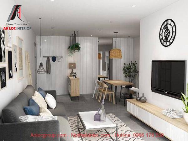 Nố trí không gian phòng khách với nhiều vật dụng trang trí. Vật dụng này mang đến vẻ đẹp tinh tế những không kém phần hiện đại, đề cao yếu tố thẩm mỹ
