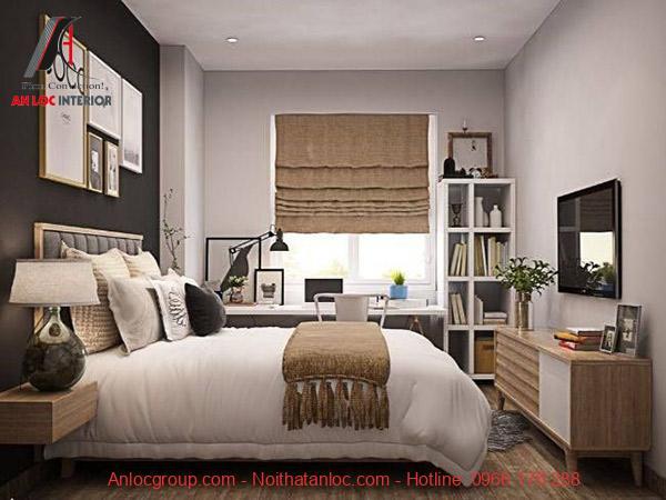Phòng ngủ Master với các đồ nộit hất tinh tế. Đặc biệt các đồ nọi thất vừa tạo hiệu ưungs trang trí vừa mang đến công năng tuyệt vời