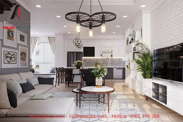Thiết kế nhà chung cư 90m2