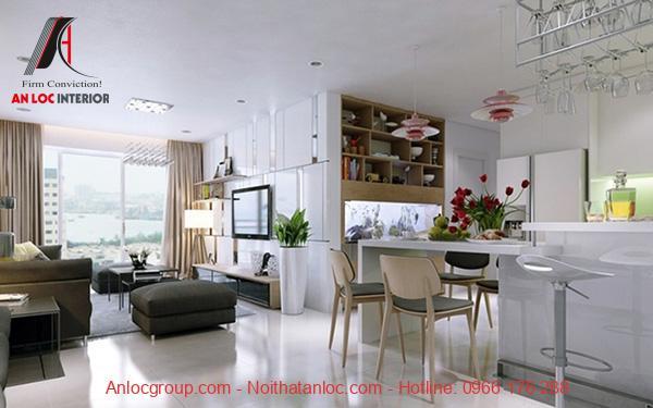 Thiết kế nội thất căn hộ chung cư 90m2 đẹp, hiện đại