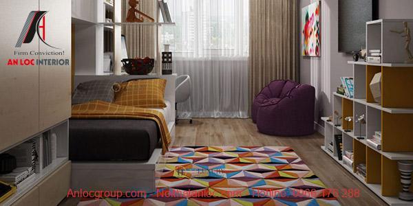 Thông thường, thiết kế nhà 2 phòng ngủ với diện tích 90m2 lựa chọn họa tiết trang trí đơn giản, nhẹ nhàng