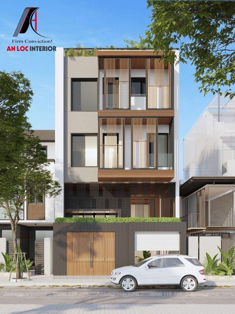 Kiến trúc tổng thể căn nhà 3 tầng với họa tiết độc đáo, ấn tượng