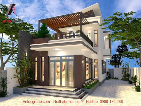 Thiết kế móng nhà 2 tầng cao ráo, chắc chắn giúp căn nahf bạn tránh được tác nhân xấu của thời tiết