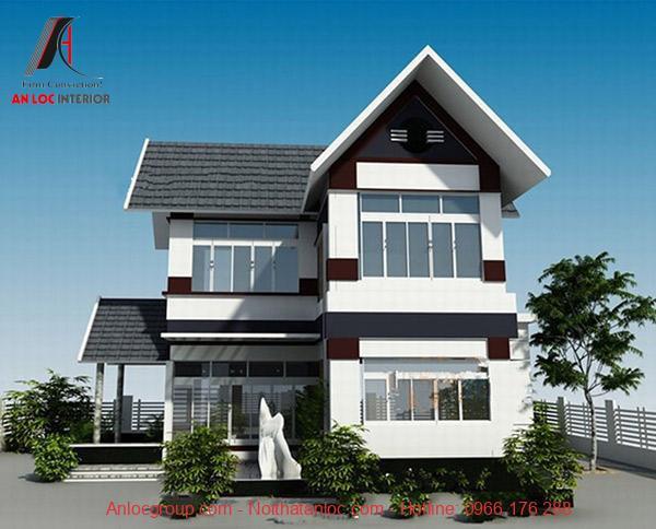 Mẫu nhà 2 tầng mang vẻ đẹp hiện đại, sang trọng từ tiểu cảnh đến kiến trúc