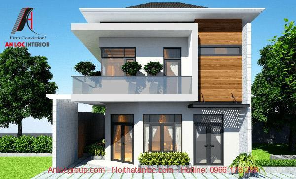 Mẫu thiết kế nhà vườn 2 tầng đẹp, cuốn hút với màu xanh tự nhiên