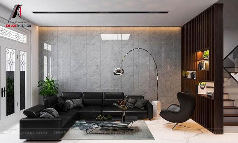 Gam màu trung tính tô điểm bằng màu đạm của sofa mang lại hiệu ứng thẩm mỹ đặc trưng