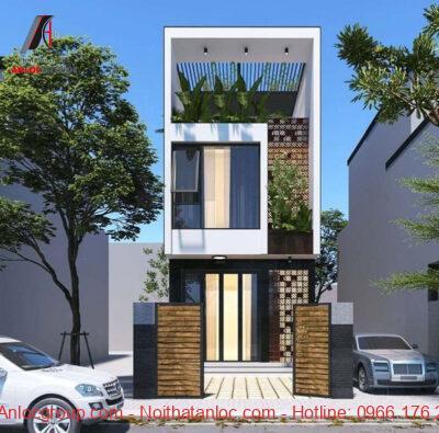 Kết cấu tổng thể căn nhà được phân chia bố cục rõ ràng, mạch lạc