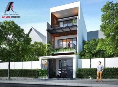 Không gian tổng thể căn nhà với từng chi tiết và đường nét cụ thể