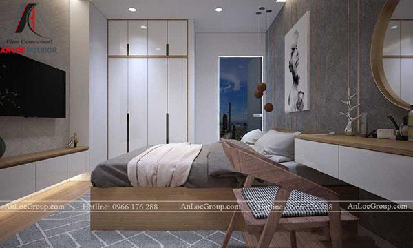 Thiết kế phòng ngủ chung cư 60m2 theo phong cách hiện đại